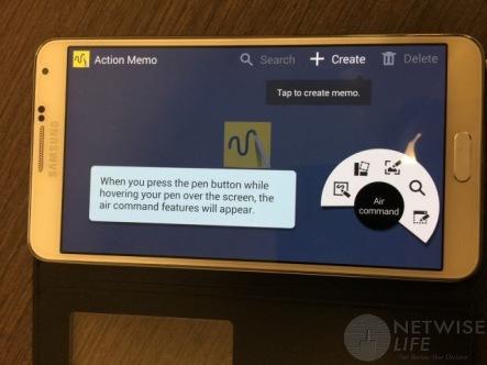 Galaxy Note 3 - Action Menu
